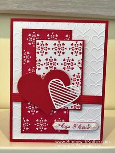 Image Valentine Day Cards, Diy Valentine, Holiday Cards, Christmas Cards, Making Greeting Cards, Creative Cards, Valentine's Day Handmade Cards, Scrapbook Cards, Damasks