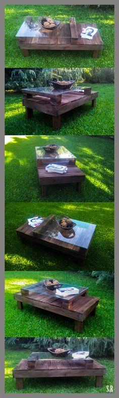 mesa reciclada pallets