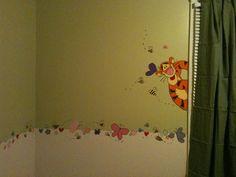 Winnie the pooh themed nursery room. (Tigger)
