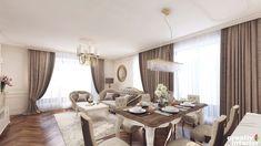 Design Interior Apartament în stil Neoclasic, Complex VallettaCreativ Interior Curtains, Interior Design, Home Decor, Nest Design, Blinds, Decoration Home, Home Interior Design, Room Decor, Interior Designing