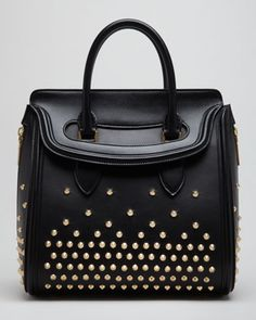 Medium Heroine Satchel Bag, Black by Alexander McQueen at Bergdorf Goodman.