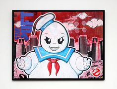 "Kekli -The Super Villains - Stay Puft  part of the ""Smile Like A Boyo"" show  thursday, May 31, 2012 - 8 rue d'Uzès 75002 Paris"