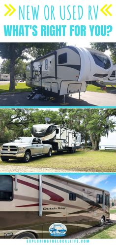 New or Used RV? RV Buying Advice from the Experts. — Exploring the Local Life Rv Homes, Used Rv, Buying An Rv, Rv Organization, Rv Tips, Get Outdoors, Rv Parks, Amazing Adventures, Rv Living