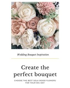 We've collected some ideas of gorgeous wedding bouquets using sola flowers to give you some inspiration for your own special event.  The best thing about sola flowers is that they are easily dye-able and can be colored to match your vision and color scheme. (Plus a tutorial to see how easy it is to dye these wood flowers to match your palette.) #bridalbouquet #diycrafts #ecoflowers #flowerarrangement #solaflowers #solawoodflowers #weddingbouquet #woodflowers