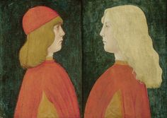 Tuscan Artist (c.1480-1500) - Portrait of Two Boys