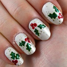 Holly berry nail decal dark green berry nails red christmas digit al dozen week redgreengold holly berries follow gashin christmas holidaychristmas nail artholly prinsesfo Images
