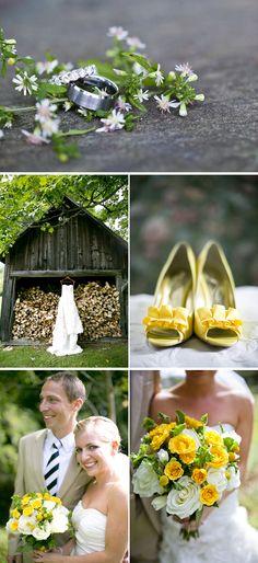 A sunny yellow wedding we love! {Ampersand Wedding Photography}