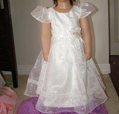 NIB Chic White Communion Christening Flower Girl Dress