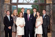 Princess Alexandra, Maria Teresa, Prince Felix, Grand Duchess of Luxembourg, Prince Henri, his wife Tessy Anthony, Prince Sebastian, Prince Guillaume, Prince Louis of Luxembourg