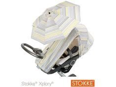 Summer Cover per Passeggini Xplory e Crusi di Stokke nel nuovo colore Grey Lemon Stripes
