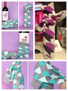Wrap wine bottles or in my case, glass water bottles with socks.  From formalfringe