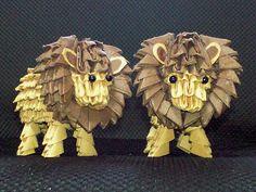 3D Origami - Origami Lion