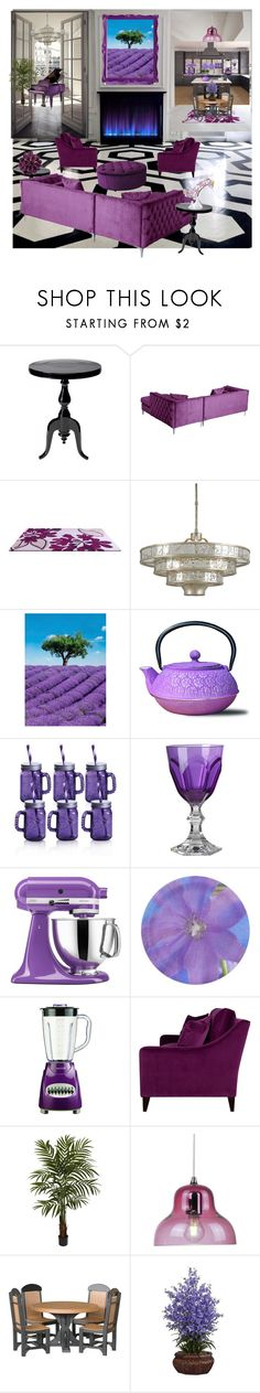 """""""Passionate purple"""" by angelandmila ❤ liked on Polyvore featuring interior, interiors, interior design, home, home decor, interior decorating, Alexander McQueen, Brewster Home Fashions, Old Dutch and Fitz & Floyd"""