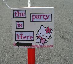Hello Kitty Party Sign  http://tidbitsandtabletalk.blogspot.com/#