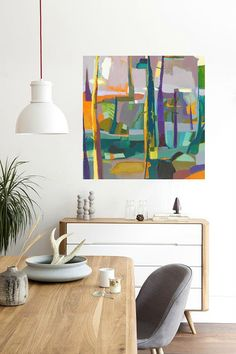 Wall art, modern interior /artist Danielle Nelisse