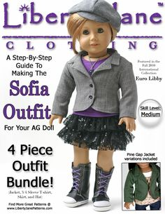 Liberty Jane Clothing Doll Clothes Pattern. Download, Print, Sew!