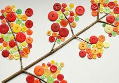 Manualidades con botones: árboles!   Aprender manualidades es facilisimo.com