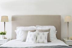 Natural Linen Bedhead from www.lavenderhillinteriors.com.au