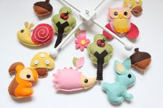 """Baby Crib Mobile - Baby Mobile - Decorative Baby Nursery Crib Mobile - """"Forest Little Creatures"""""""