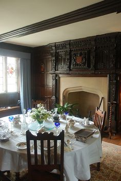 27 Baddesley Clinton - Warwickshire - Dining room 20110723 by Davids Unusual Destinations, via Flickr