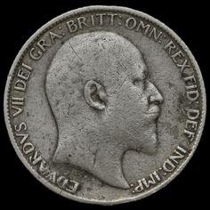 1904 Edward VII Silver Sixpence, Rare, GF