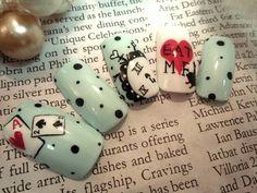 Alice in Wonderland theme # nails