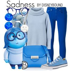 Sadness by leslieakay on Polyvore featuring Maison Ullens, Polo Ralph Lauren, Converse, Alexander Wang, Hring eftir hring, Marc by Marc Jacobs, See Concept, Disney, disney and disneybound