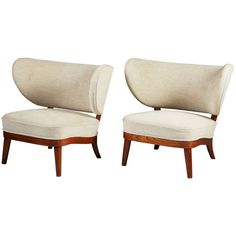 Easy Chair Designed by Otto Schulz for Boet, Sweden, 1940s   From a unique collection of antique and modern armchairs at https://www.1stdibs.com/furniture/seating/armchairs/