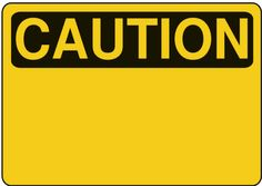 Science Laboratory Safety Signs: Yellow and Black Caution Sign