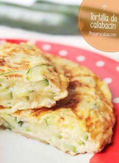 Tortilla de calabacín      1 calabacín grande o 2 pequeños     1 cebolleta grande     4 huevos     Aceite de oliva virgen extra     Sal