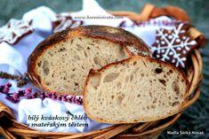 bílý kváskový chléb s mateřským těstem Ham, Banana Bread, Food And Drink, Desserts, Basket, Tailgate Desserts, Deserts, Hams, Postres