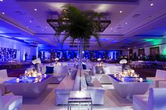 wedding lounge furniture | Modern All-White Sangeet with Lounge Furniture | feels like a miami party right?