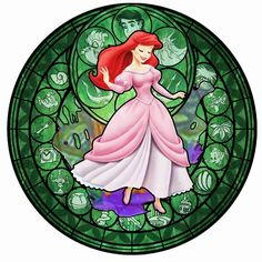 Ariel KH Stained Glass by ~bummi1 on deviantART