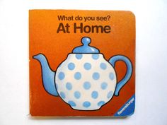 Vintage Children's Board Book What Do You by lizandjaybooksnmore