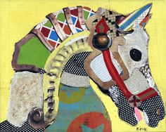 Saatchi Online Artist: Michel Keck; Assemblage / Collage, 2012, Mixed Media Horse