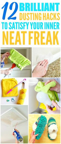 These 10 brilliant and easy dusting hacks are THE BEST! Now I have some AWESOME ways to clean my home! These cleaning tips and hacks make cleaning my house so much quicker and easier! Definitely pinning!