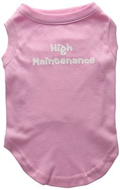 Mirage Pet Products 14-Inch High Maintenance Screen Print Shirts for Pets, Large, Light Pink