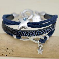 Bracelet DIANE infini bleu