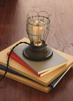 the Clover from Rejuvenation - a great industrial table lamp for your desk