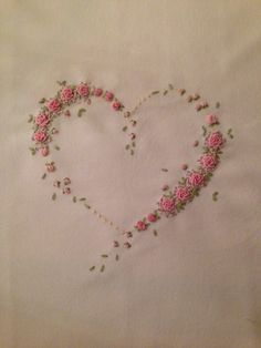 rose hand embroidery stitches - Google Search