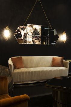 The Egoist Mirror looks absolutely stunning in a living room set. Its delicate cast brass hand is the touch every design needs Best Interior Design, Luxury Interior, Room Interior, Interior Decorating, Unique Furniture, Furniture Design, Contemporary Furniture, Luxury Mirror, Luxury Lighting