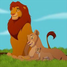 Simba and Nala and their daughter Kiara