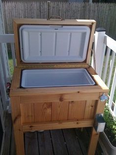 Homemade Cedar Patio Cooler Stand. by EricsWoodCraft on Etsy