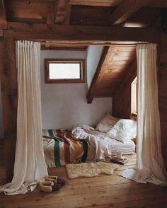 love this quiet bedroom nook