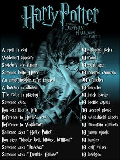 Harry Potter workout for Deathly Hallows Part 1