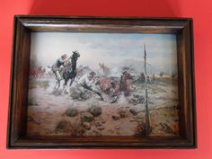 CHARLES M.RUSSELL Vintage Print Western When Horse Flesh Comes High Copyright…