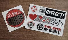 Why we love stickers (and you should too! Love Stickers, Custom Stickers, Metallic Colors, Our Love, Reflection, Give It To Me, Things To Come, Colours, Shapes