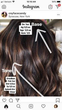 Shimmering Light Brown Highlights - 60 Hairstyles Featuring Dark Brown Hair with Highlights - The Trending Hairstyle Hair Color And Cut, Brown Hair Colors, Hair Color Formulas, Brown Hair With Highlights, Balayage Hair, Balayage Brunette, Haircolor, Bayalage, Brunette Hair