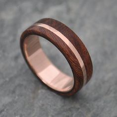ROSE GOLD Wood Ring Solsticio Oro Nacascolo 14 von naturalezanica