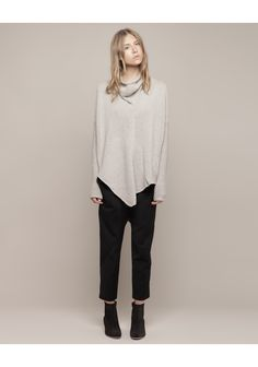 Helmut Lang ~ Pointed Hem Pullover  Cozy sweater